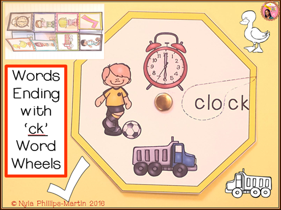 phonics ck word wheel and worksheet by teachernyla