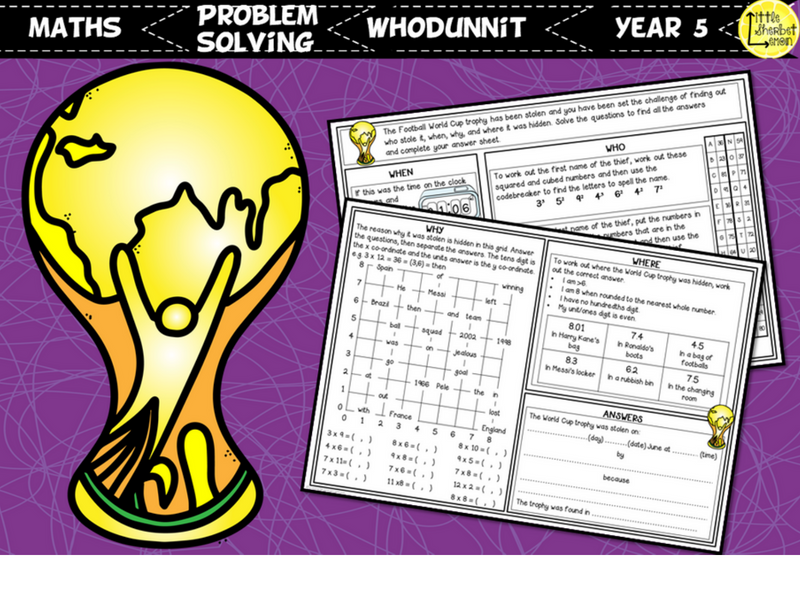 Football World Cup 2018 Whodunnit Activity Year 5
