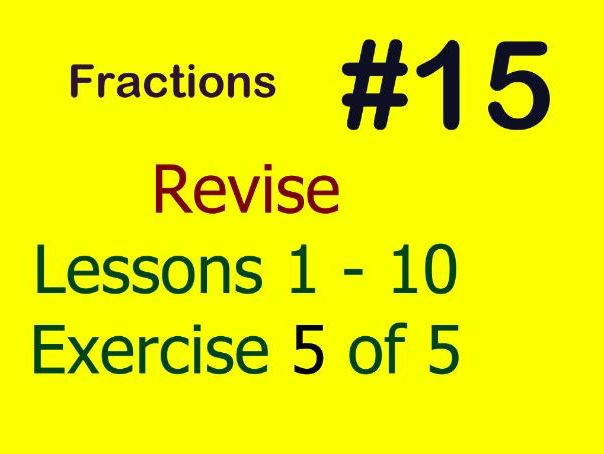 Drawing Simple Fractions - 9 Worksheets (video solutions YT)