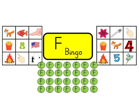 Bingo with initial sound F