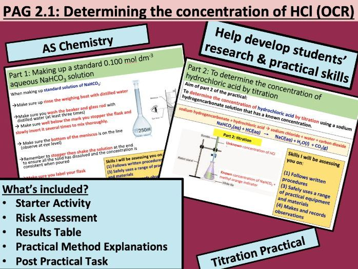 PAG 2.1 Determining the concentration of hydrochloric acid