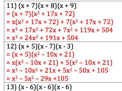 GCSE Maths - 30 Q + A - Expanding Triple Brackets - Cubic Equations
