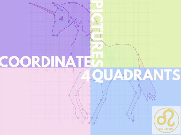 Coordinate Pictures in 4 Quadrants
