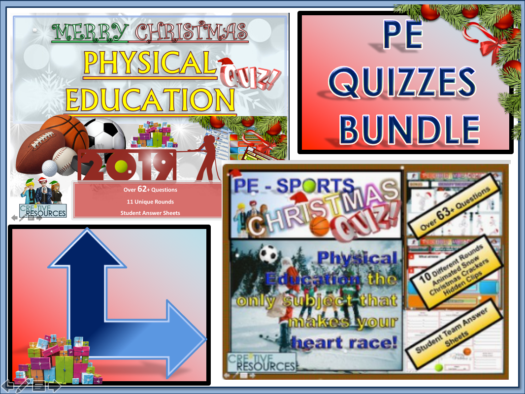 Physical Education PE Christmas Quiz BUNDLE