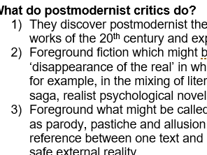 Introduction to Post-Modernism