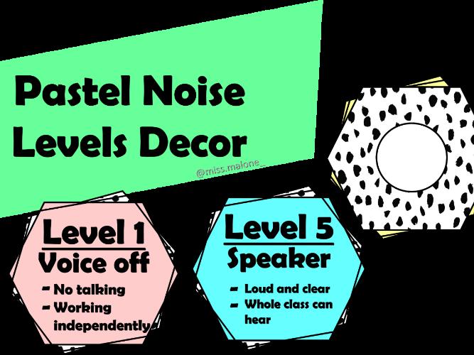 Pastel Noise Level Decor