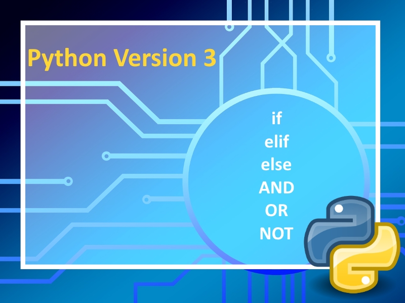 Python 3: Using if, AND, OR, NOT command Lesson 4 with instructional videos