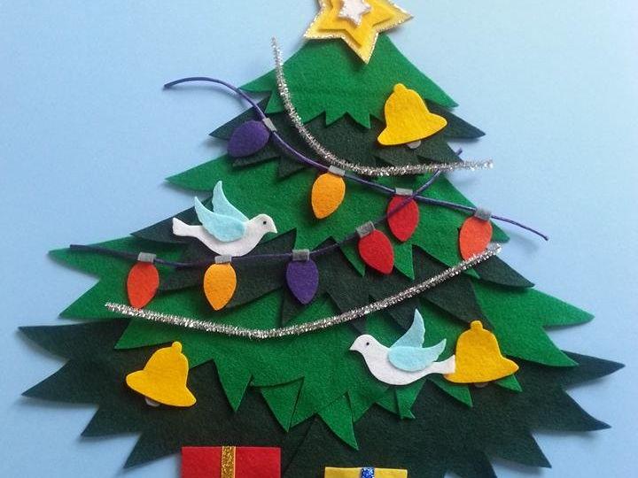 The Lights on the Tree Felt Board Set Digital Pattern Christmas