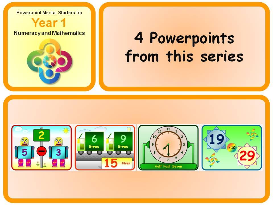 KS1 Year 1 Maths Mental Starters 14