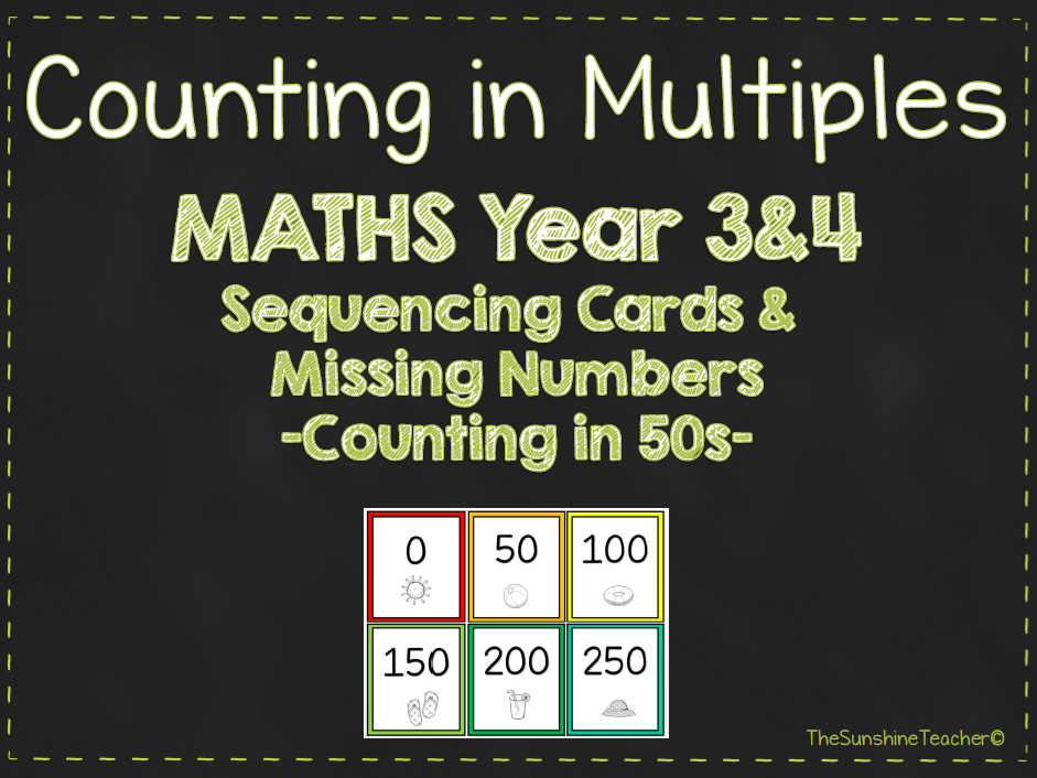 Multiples - Counting in 50s - Year 3&4 - Maths - Place Value