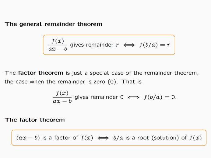 Lesson on Remainder Theorem and Factor Theorem by joezhou – The Remainder Theorem Worksheet
