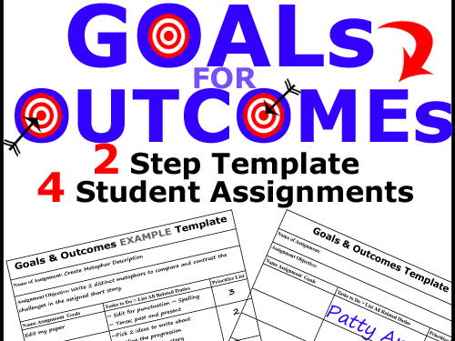 GOAL SETTING Template > 2-Steps for Achieving Student Assignment Objectives!