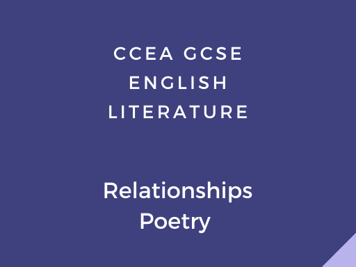 CCEA GCSE Relationships Poetry Booklet