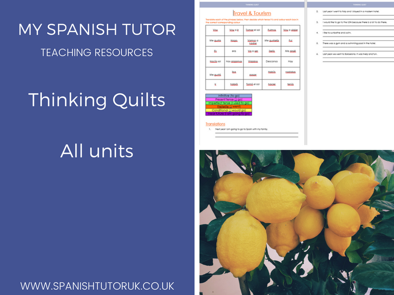 GCSE Spanish Thinking Quilts - All modules