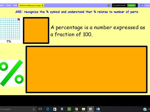 Recognise and understand the percent symbol lesson and resource pack