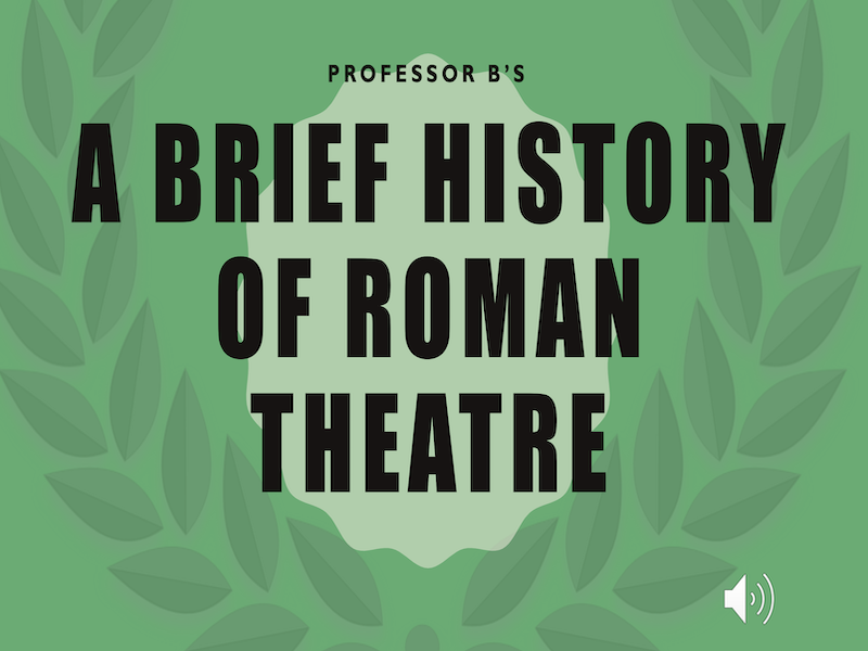A Brief History of Roman Theatre Power Point/Activity Sheets Bundle