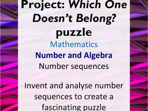 Project: WODB number sequences (editable) - AC Year 5 Maths - Number and Algebra (number sequences)