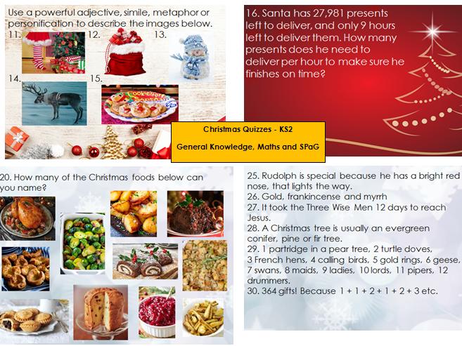 Christmas Quizzes - KS2