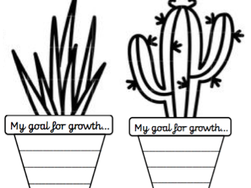 Goal for growth cactus template