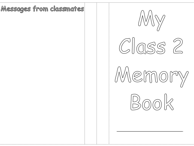 Editable end of year memory booklet