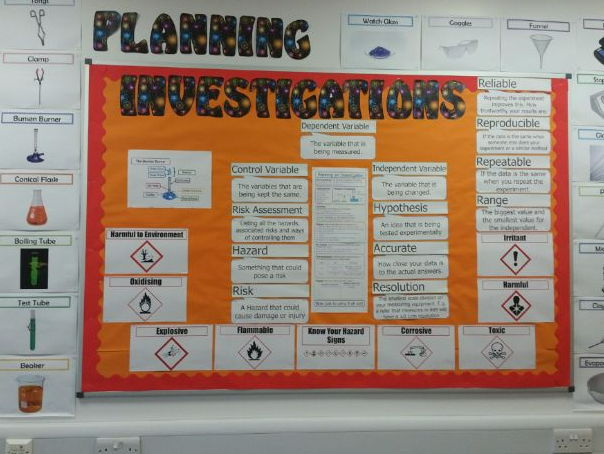 Science Classroom Displays - Planning Investigations