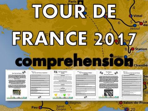 Tour de France 2017 Reading Comprehension Pack  – lesson, quiz, activity, resource, sport