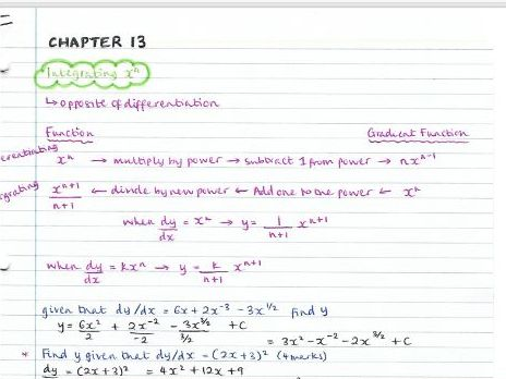 AS Pure Maths notes- Chapter 13 (Integration)