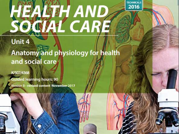 Cambridge Technical Level 3 Health & Social Care Unit 4 (Anatomy and Physiology)