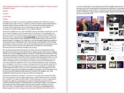 A-Level Media The Bridge case study revision