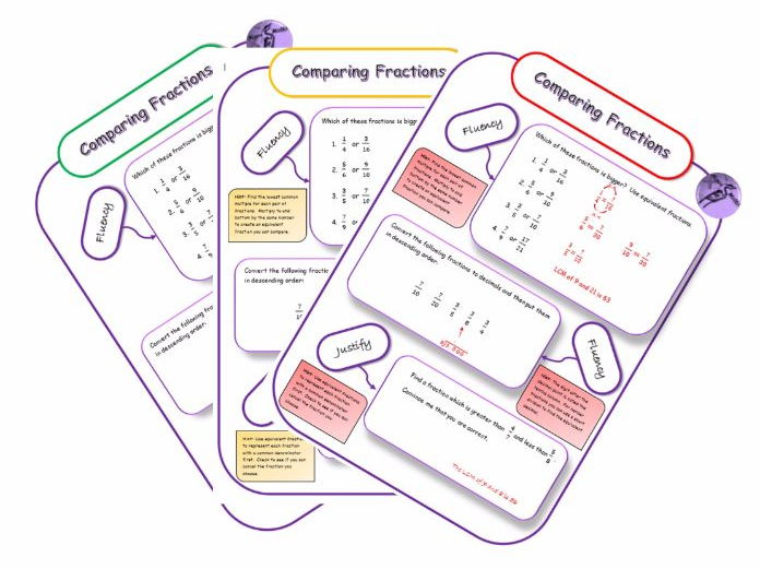 Equivalent Fractions - Differentiated Mastery Worksheets