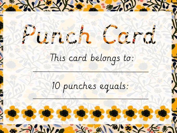 Punch Card  - Reward Tracker (Pattern 1)