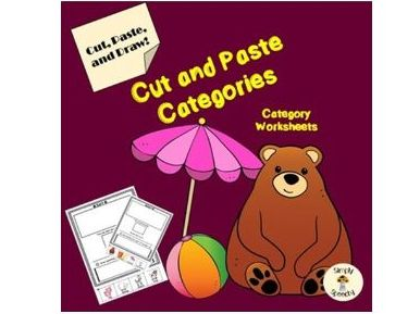 Categories Activity- Cut and Paste