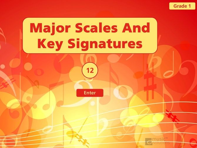 Grade 1 Bundle Sample Major Scales And Key Signatures Printable And Interactive Resource.