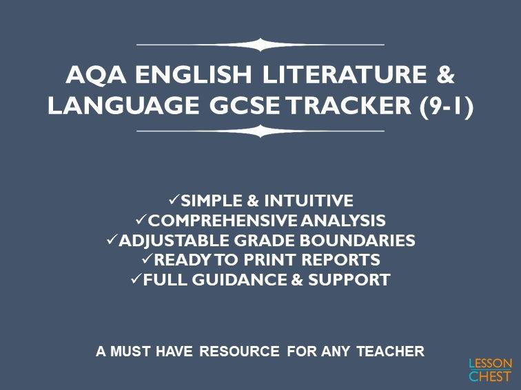 AQA GCSE English Exam Tracker (9-1)