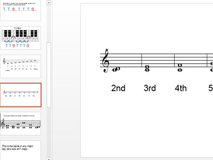 Musical intervals 1 - number only