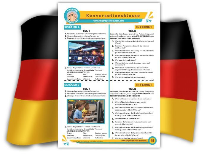 Internet - German Speaking Activity