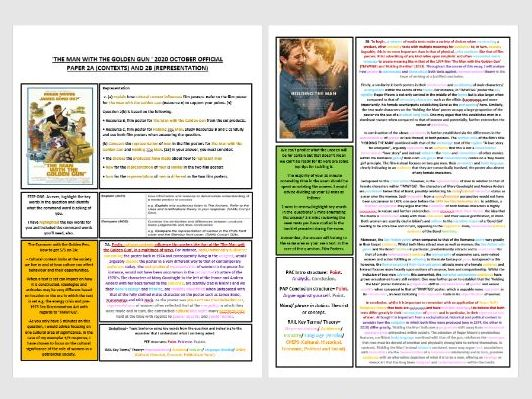 BAND 5/ LV9 COMPLETE 2020 OFFICIAL EDUQAS MEDIA STUDIES PAPER (KEY TERMS AND STRUCTURE) HIGHLIGHTED