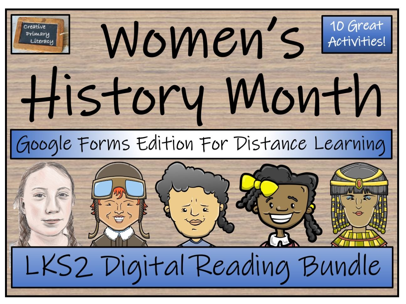 LKS2 Women's History Month Reading Comprehension & Distance Learning Bundle