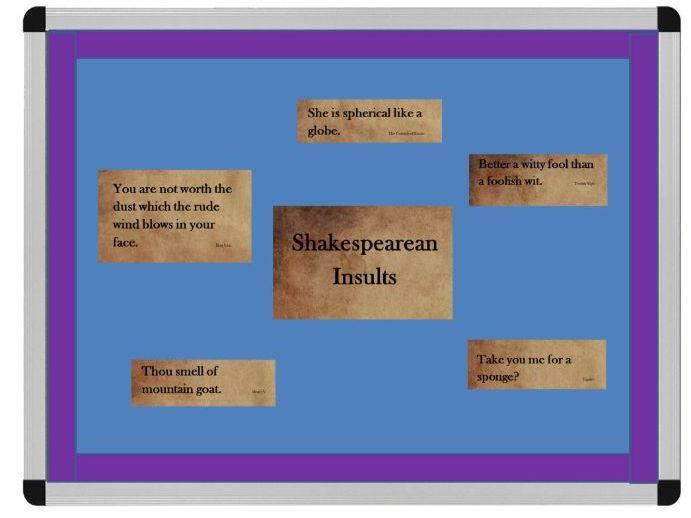 Shakespearean Insults Display Shakespeare