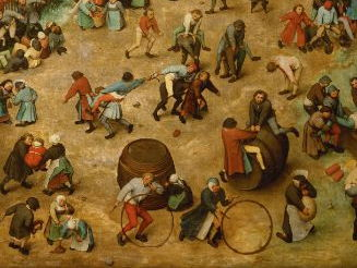 Children's Games by Pieter Bruegel - making a playground picture inspired by the painting