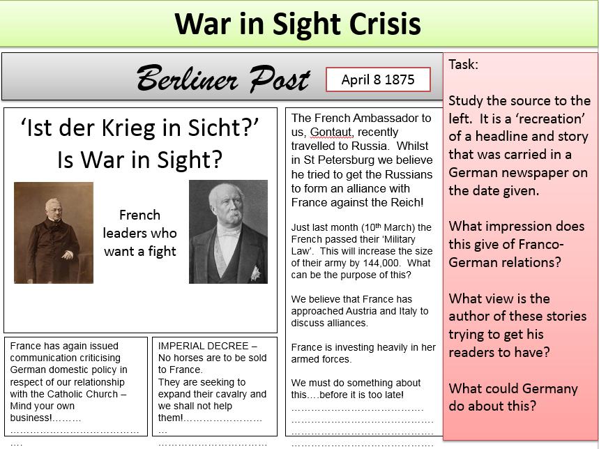 Dreikaiserbund 1873 and the War in Sight Crisis 1875