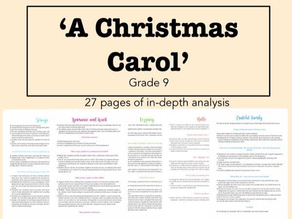 GCSE A Christmas Carol Notes - Grade 9