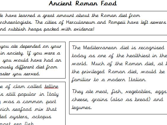 Ancient Roman Food Information