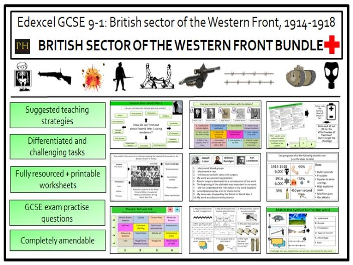 British sector of the Western Front Bundle