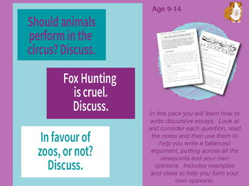 Lots Of Discursive Essays To Write: Pack 1 (9-14 years)