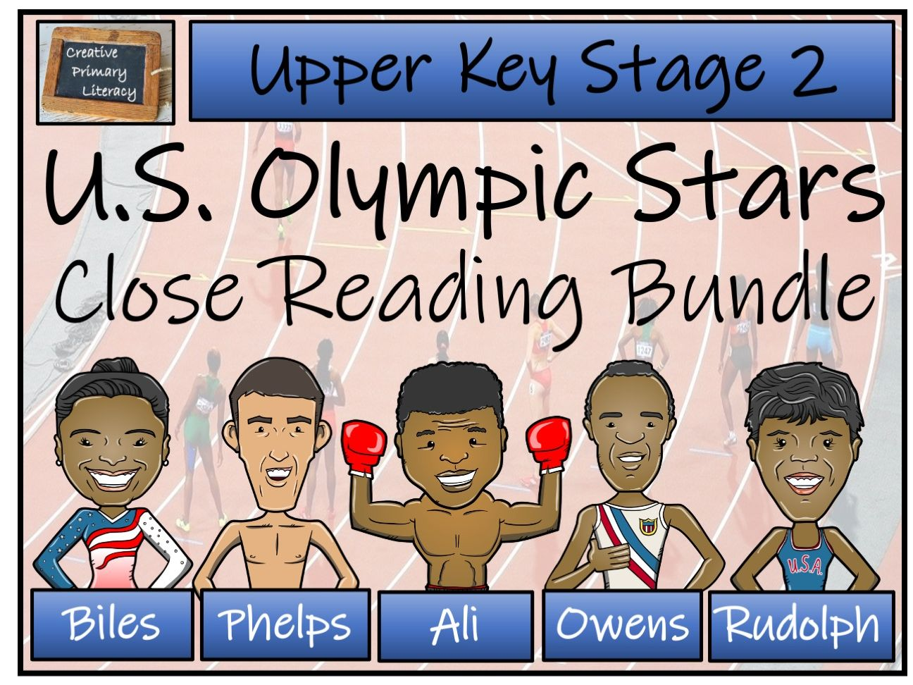 UKS2 U.S. Olympic Stars Reading Comprehension Activity Bundle