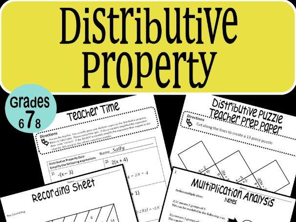 Distributive Property Math Stations