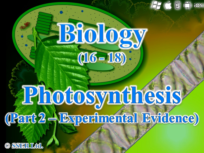 3.5.1 Photosynthesis - Experimental Evidence