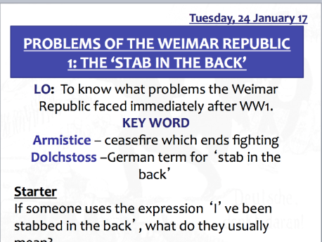 describe the problems the weimar republic faced The weimar republic faced many problems and eventually failed (a) briefly describe what happened when  'by 1929 the weimar republic had overcome its problems.