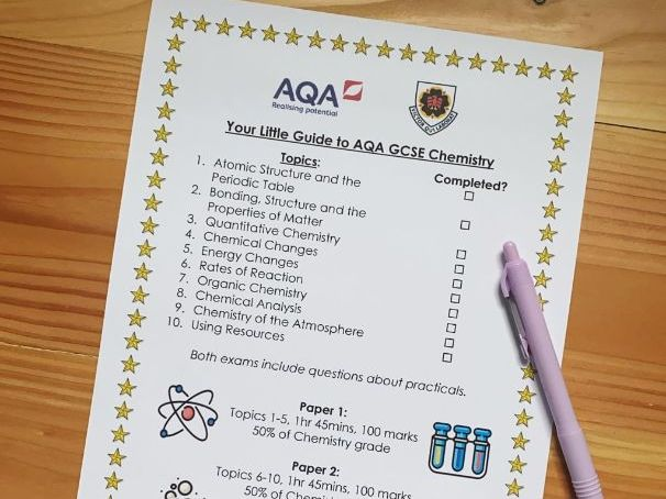 Quick Guide to AQA GCSE Chemistry (Triple)